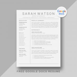 7 Free Google Docs Resume Template